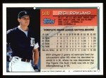 1994 Topps #588  Rich Rowland  Back Thumbnail
