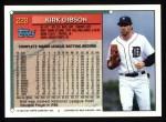 1994 Topps #228  Kirk Gibson  Back Thumbnail