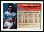 1994 Topps #370  Benito Santiago  Back Thumbnail