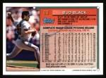 1994 Topps #89  Bud Black  Back Thumbnail