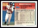 1994 Topps #528  Sid Bream  Back Thumbnail
