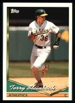 1994 Topps #610  Terry Steinbach  Front Thumbnail