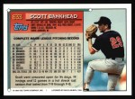 1994 Topps #633  Scott Bankhead  Back Thumbnail