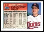 1994 Topps #649  Derek Parks  Back Thumbnail