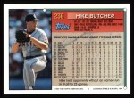 1994 Topps #236  Mike Butcher  Back Thumbnail
