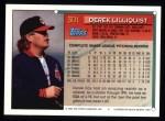 1994 Topps #301  Derek Lilliquist  Back Thumbnail