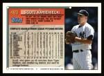 1994 Topps #489  Scott Kamieniecki  Back Thumbnail