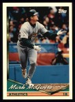 1994 Topps #340  Mark McGwire  Front Thumbnail