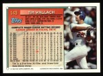 1994 Topps #143  Tim Wallach  Back Thumbnail