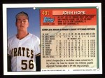 1994 Topps #491  John Hope  Back Thumbnail