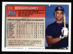 1994 Topps #336  Luis Lopez  Back Thumbnail