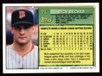 1994 Topps #71  Rich Becker  Back Thumbnail