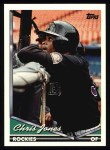 1994 Topps #496  Chris Jones  Front Thumbnail