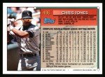 1994 Topps #496  Chris Jones  Back Thumbnail