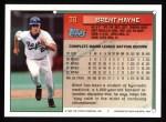 1994 Topps #38  Brett Mayne  Back Thumbnail