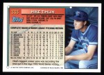 1994 Topps #333  Mike Timlin  Back Thumbnail