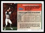 1994 Topps #484  Luis Gonzalez  Back Thumbnail
