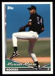 1994 Topps #186  Marcus Moore  Front Thumbnail