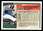 1994 Topps #225  Greg Vaughn  Back Thumbnail