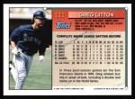 1994 Topps #111  Greg Litton  Back Thumbnail