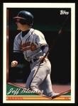 1994 Topps #318  Jeff Blauser  Front Thumbnail