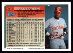 1994 Topps #428  Willie Greene  Back Thumbnail