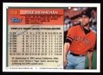 1994 Topps #438  Mike Henneman  Back Thumbnail