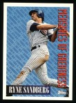 1994 Topps #602   -  Ryne Sandberg Measures of Greatness Front Thumbnail