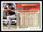 1994 Topps #738  Greg A. Harris  Back Thumbnail