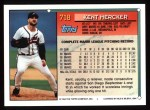 1994 Topps #718  Kent Mercker  Back Thumbnail