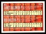 1994 Topps #766  James Baldwin  /  Rod Bolton  Back Thumbnail