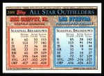 1994 Topps #388   -  Ken Griffey  Jr. /  Lenny Dykstra All-Star Back Thumbnail