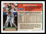1994 Topps #44  Jeff King  Back Thumbnail