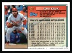 1994 Topps #401  John Kruk  Back Thumbnail