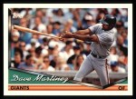 1994 Topps #174  Dave Martinez  Front Thumbnail