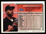 1994 Topps #477  Arthur Rhodes  Back Thumbnail