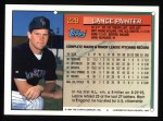 1994 Topps #229  Lance Painter  Back Thumbnail