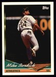 1994 Topps #188  Mike Bordick  Front Thumbnail