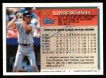 1994 Topps #487  Mike Benjamin  Back Thumbnail