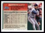 1994 Topps #187  Graeme Lloyd  Back Thumbnail