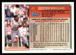1994 Topps #48  Tony Phillips  Back Thumbnail