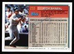 1994 Topps #233  Rich Amaral  Back Thumbnail