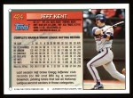 1994 Topps #424  Jeff Kent  Back Thumbnail
