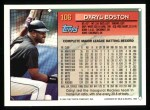 1994 Topps #106  Daryl Boston  Back Thumbnail