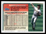 1994 Topps #650  Andy Van Slyke  Back Thumbnail