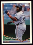 1994 Topps #190  Cecil Fielder  Front Thumbnail
