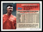 1994 Topps #114  Mitch Williams  Back Thumbnail