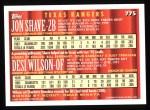 1994 Topps #775  Jon Shave  /  Desi Wilson  Back Thumbnail