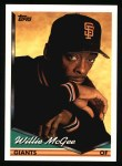1994 Topps #574  Willie McGee  Front Thumbnail