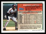 1994 Topps #149  Kenny Lofton  Back Thumbnail